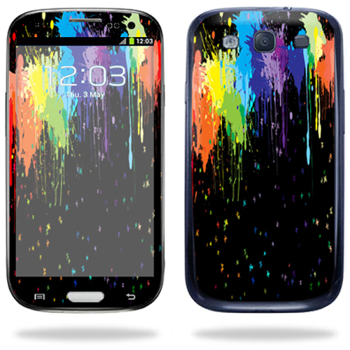 Mightyskins Protective Vinyl Skin Decal Cover for Samsung Galaxy S III S3 Cell Phone wrap sticker skins Splatter