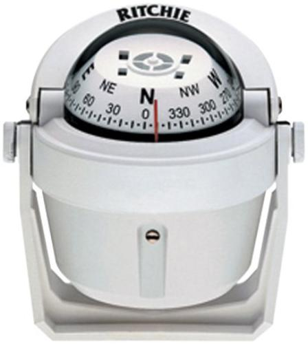 "RITCHIE COMPASSES B-51W Compass, Bracket Mount, 2.75"" Dial, Wht. by RITCHIE COMPASSES"