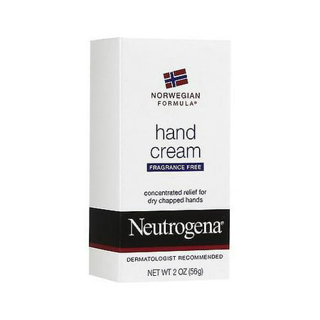 Neutrogena Hand Cream Norwegian Formula Fragrance Free for Chapped Skin 2 Oz (Norwegian Fox)