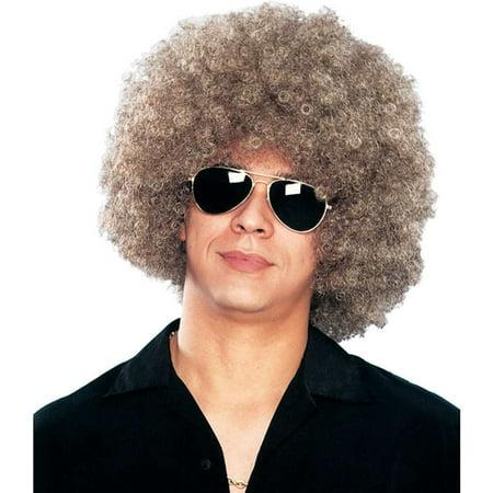 Mixed Blonde Disco Afro Wig - Halloween Disco Music Mix
