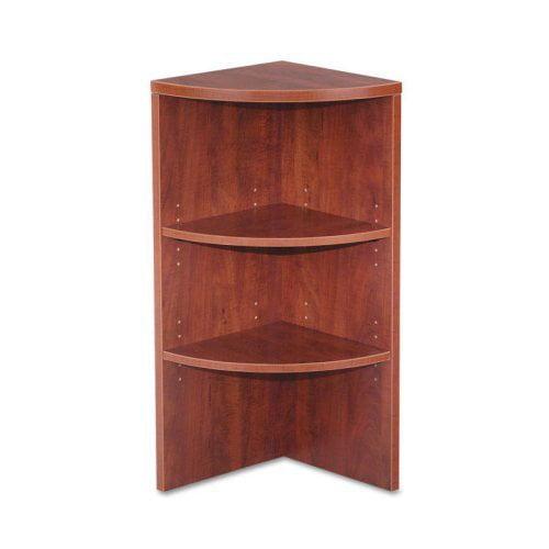 Alera VA621515MC Vncia Series Upper End Cap Bookcase - Medium Cherry