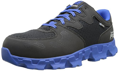 Timberland PRO Men's Powertrain Alloy Toe ESD Industrial Shoe,Black Blue Micr... by Timberland PRO