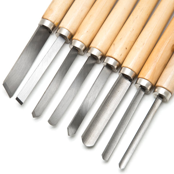 Biltek NEW 8pc Wood Lathe Chisel Set Turning Tools Woodworking Gouge Skew Parting Spear