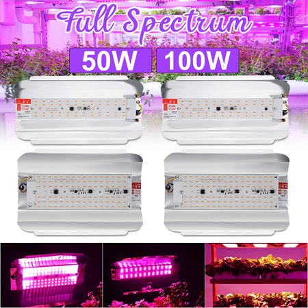 2 Packs 100W LED Hydroponic Grow Light Full Spectrum Outdoor/Indoor, 3000lm Plant Grow Flood Light Growing Lamp for Hydroponics Greenhouse Garden Plant Flower Vegetable - image 8 of 8