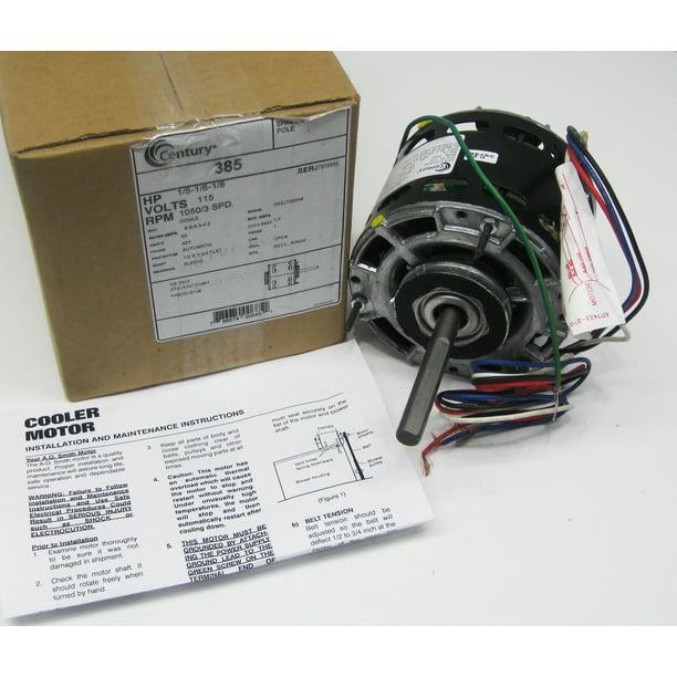 Century 385 Fan Motor 1 5 Hp 5 3 Speed 115 Volts Da3j7063n Walmart Com Walmart Com