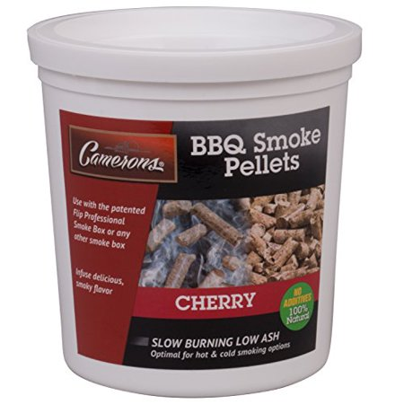 Image of Smoking Wood Pellets (Cherry)- Kiln Dried BBQ Pellets- 100% All Natural Barbecue Smoker Chips- 1 Pint Bucket