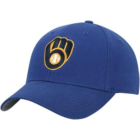 Milwaukee Brewers Basic Team Color Adjustable Hat - Royal - OSFA Single Soft Heat Brewer