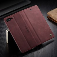 iPhone 8 Plus Wallet Case, iPhone 7 Plus Case,Shockproof Premium Leather Magnetic Flip Folio Stand Protective Cover For Apple iPhone 8 Plus/7 Plus 5.5 inch,Red
