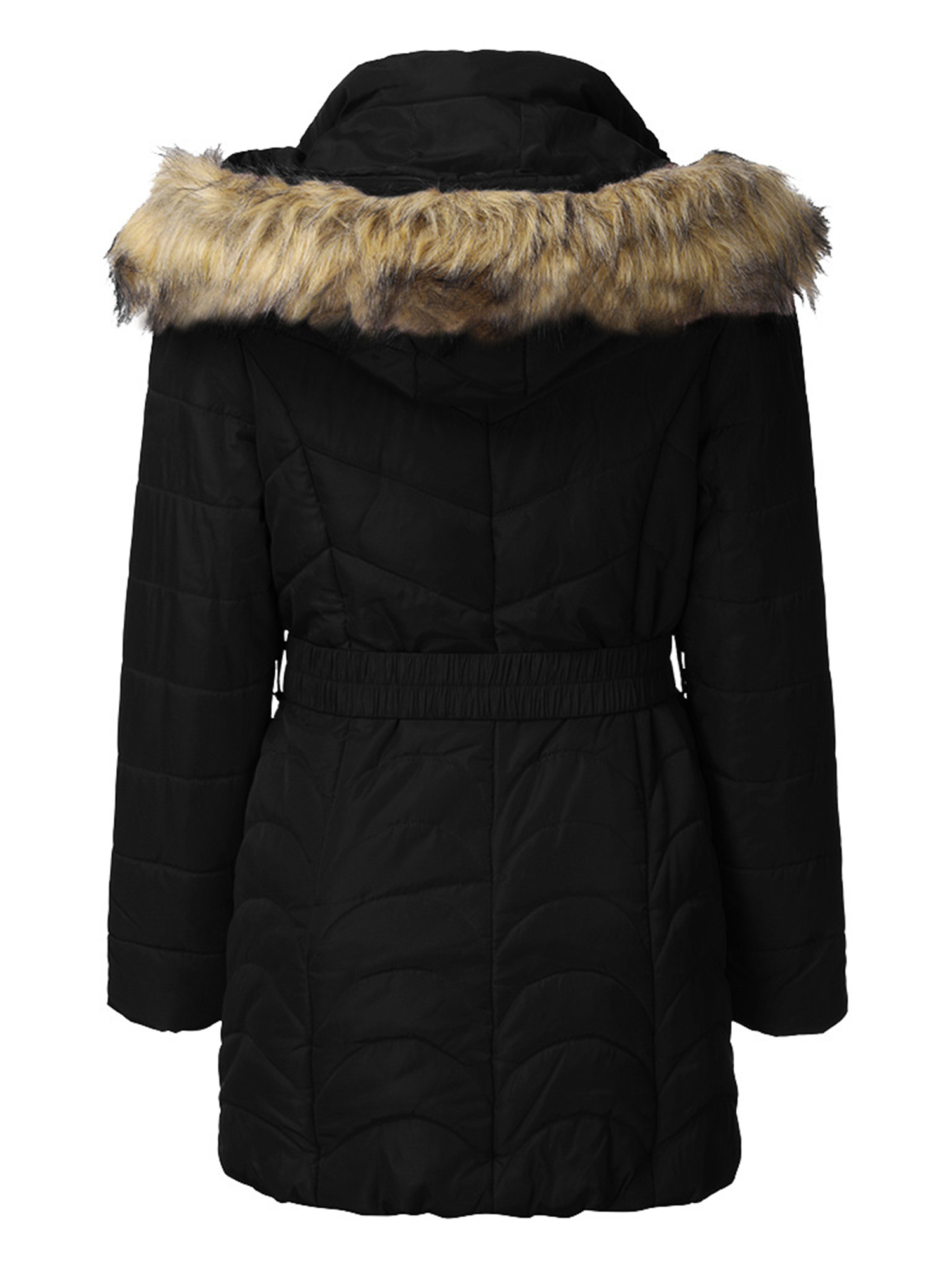 Details about  /Kids Boys Hooded Puffer Warm Coat Faux Fur Padded Jackets Thick Winter Outwear