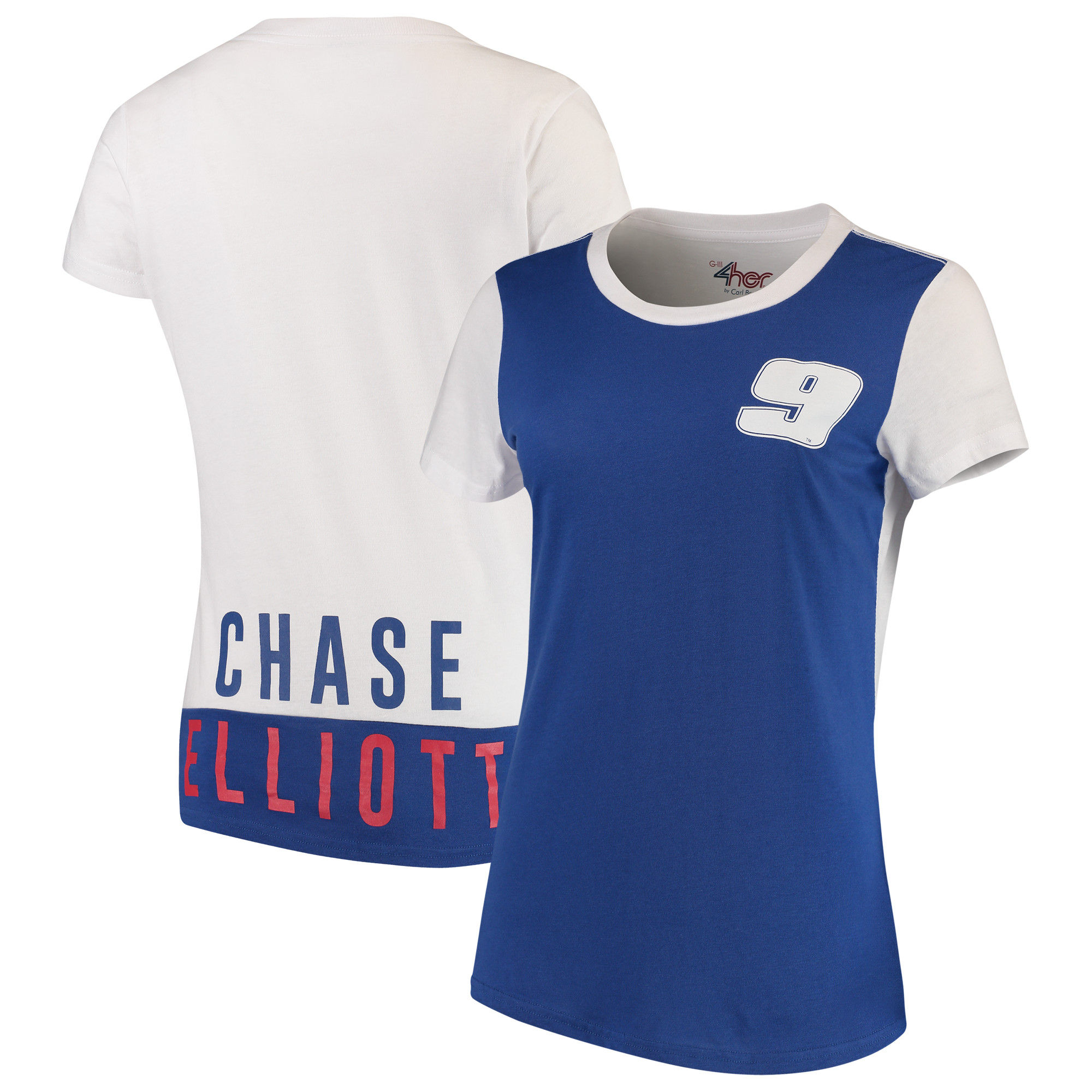 Chase Elliott G-III 4Her by Carl Banks Women's Yardline T-Shirt - Royal