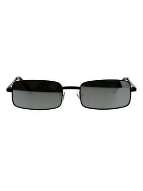 e561fb3a02 Product Image Mens Retro Vintage Narrow Rectangular OG Mirror Lens  Sunglasses Gunmetal Orange. SA106