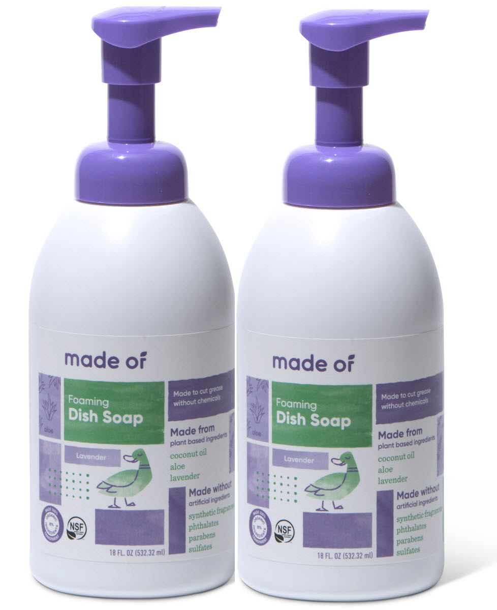 (1 Pack) MADE OF Foaming Organic Baby Dish and Bottle Soap - Organic  Castile Soap All Purpose,Lavender, 18 oz