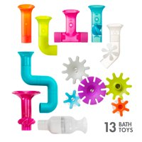 Boon Building Bath Toy Bundle Gift Set with Pipes Cogs and Tubes 13 Piece Set