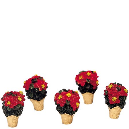 Casket Miniature - Miniature Poinsettia Set of 5