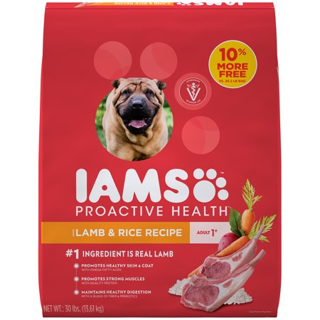 IAMS PROACTIVE HEALTH Adult Dry Dog Food Lamb and Rice, 30 lb. Bag - Lamb Dog Costume