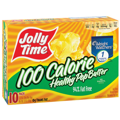 Jolly Time 100 Calorie Healthy Pop Butter Microwave Pop Corn, 1.2 oz, 10 count