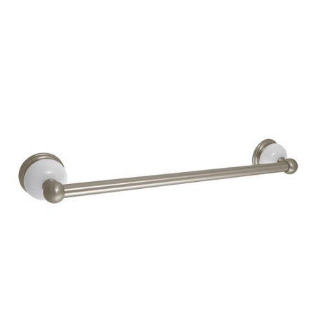 Delta 69324 Satin Nickel Porcelain Bath Towel Bar Rack Bath Porcelain Insert