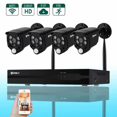 Noroomaknet Security Cameras System Wireless WIFI, Hodely 8 Channel 720P TVL WiFi 2 Infrared & 2 White Light Waterproof DVR Set (Best Channel To Use For Wifi)
