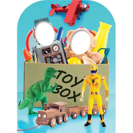 Star Cutouts Sc1088 Boys Toy Box Child Stand In Cardboard Cutout Standee