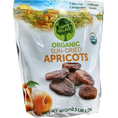 Happy Village Organic and Unsulphured Apricots, (Organic Village)