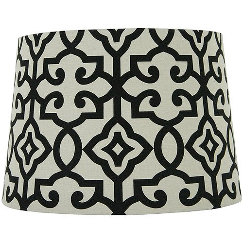 Better homes and gardens irongate lamp shade blackwhite walmart aloadofball Image collections