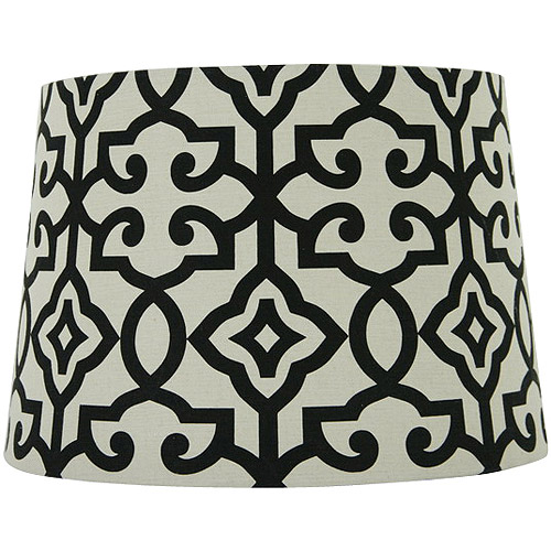 Better Homes and Gardens Irongate Lamp Shade, Black/White