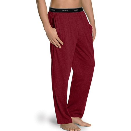 Hanes Men's Tagless Sleep Lounge Pants Solid Knit Cotton With Fly & Pockets