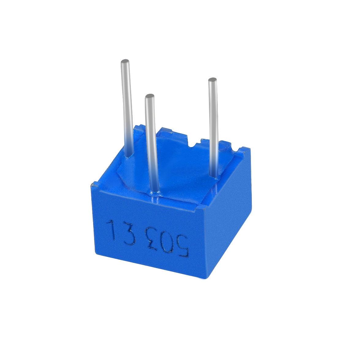 Resistors 50k Ohm Top Adjustment Horizontal Cermet Potentiometer 2 Pcs - image 3 of 6