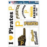 "Pittsburgh Pirates WinCraft 7-Piece 11"" x 17"" Multi-Use Decal Sheet"