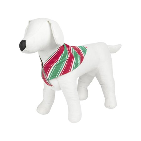 Family PJs Striped Holiday Dog Costume Red S/M
