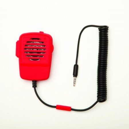 Red Walkie Talkie Microphone and Speaker for Smart -