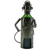 Metal Wine Bottle Holder #48- Fireman