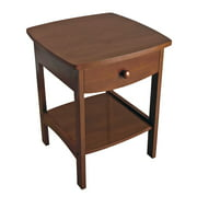 Winsome Wood Claire Curved Accent Table, Nightstand, Walnut