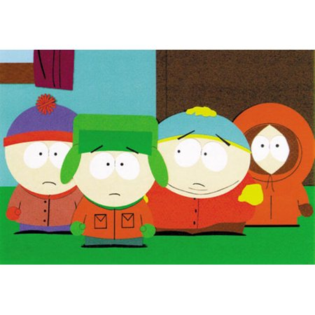 South Park - TV Show Movie Poster / Print (The Boys - Kenny, Kyle, Stan & Cartman) (Size: 40