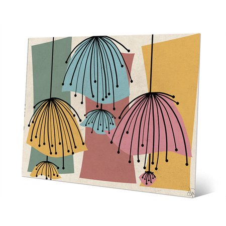 Click Wall Art Lazy Lamps Graphic Art on Plaque