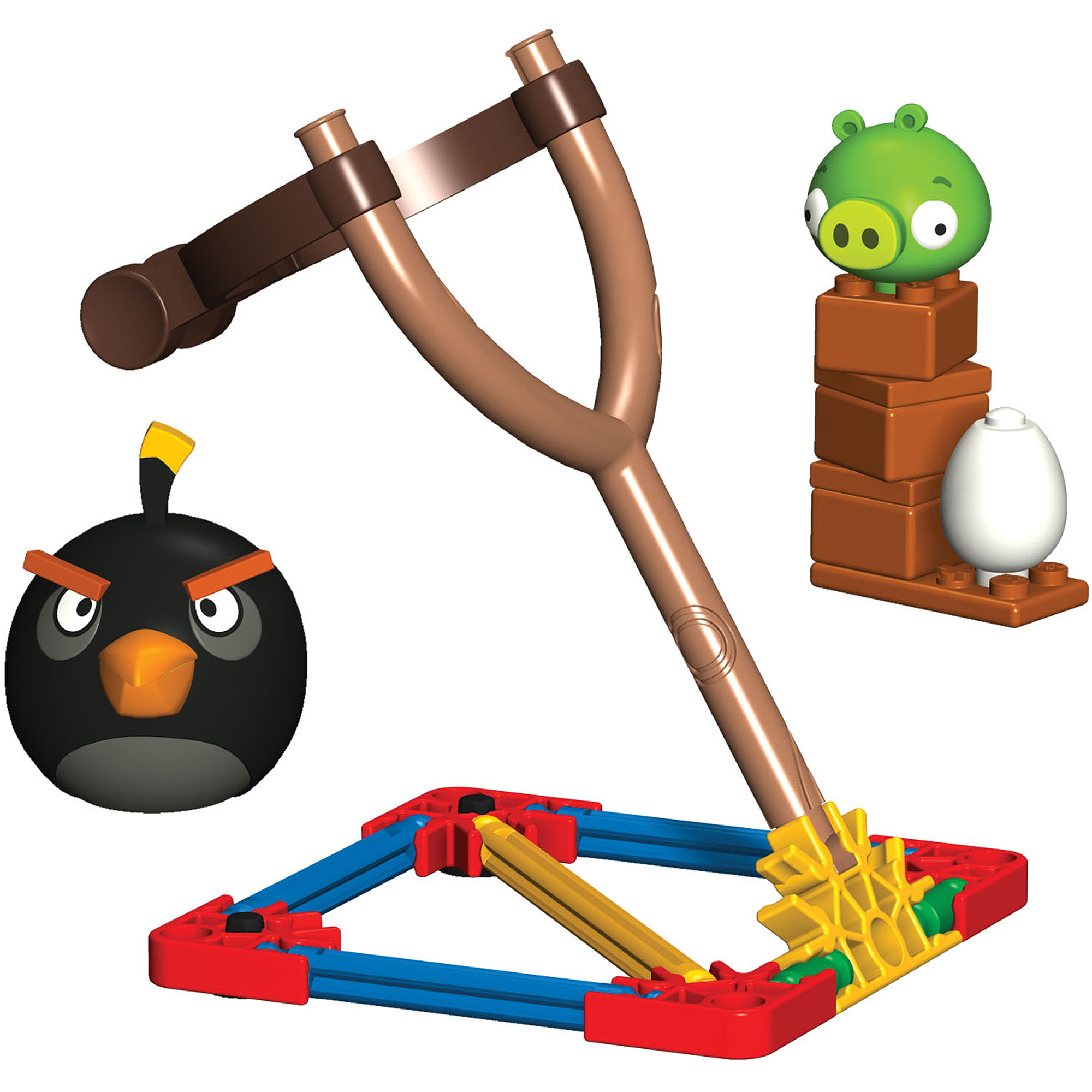 K'NEX Angry Birds Intro Building Set: Black Bird vs. Small Minion Pig