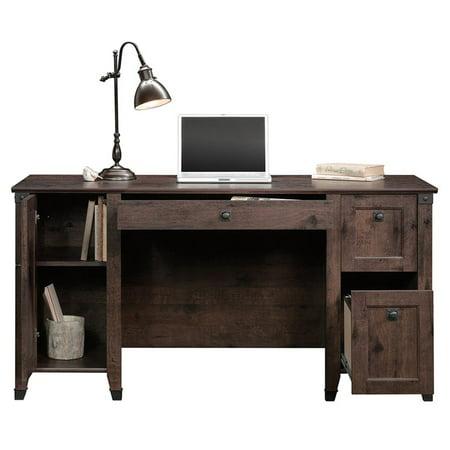 Sauder Carson Forge Computer Desk in Coffee Oak - image 2 de 18