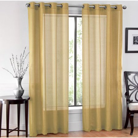 Indoor Transfer Panel - Charlton Home Meyersdale Elegant Solid Sheer Indoor Grommet Panel Pair (Set of 2)