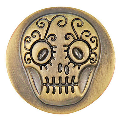 Ginger Snaps Antique Brass Skull Snap SN06-78
