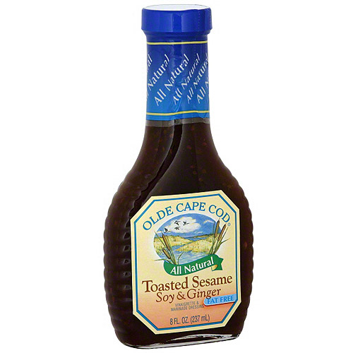 Olde Cape Cod Toasted Sesame Soy & Ginger Vinaigrette & Marinade Dressing, 8 oz (Pack of 6)