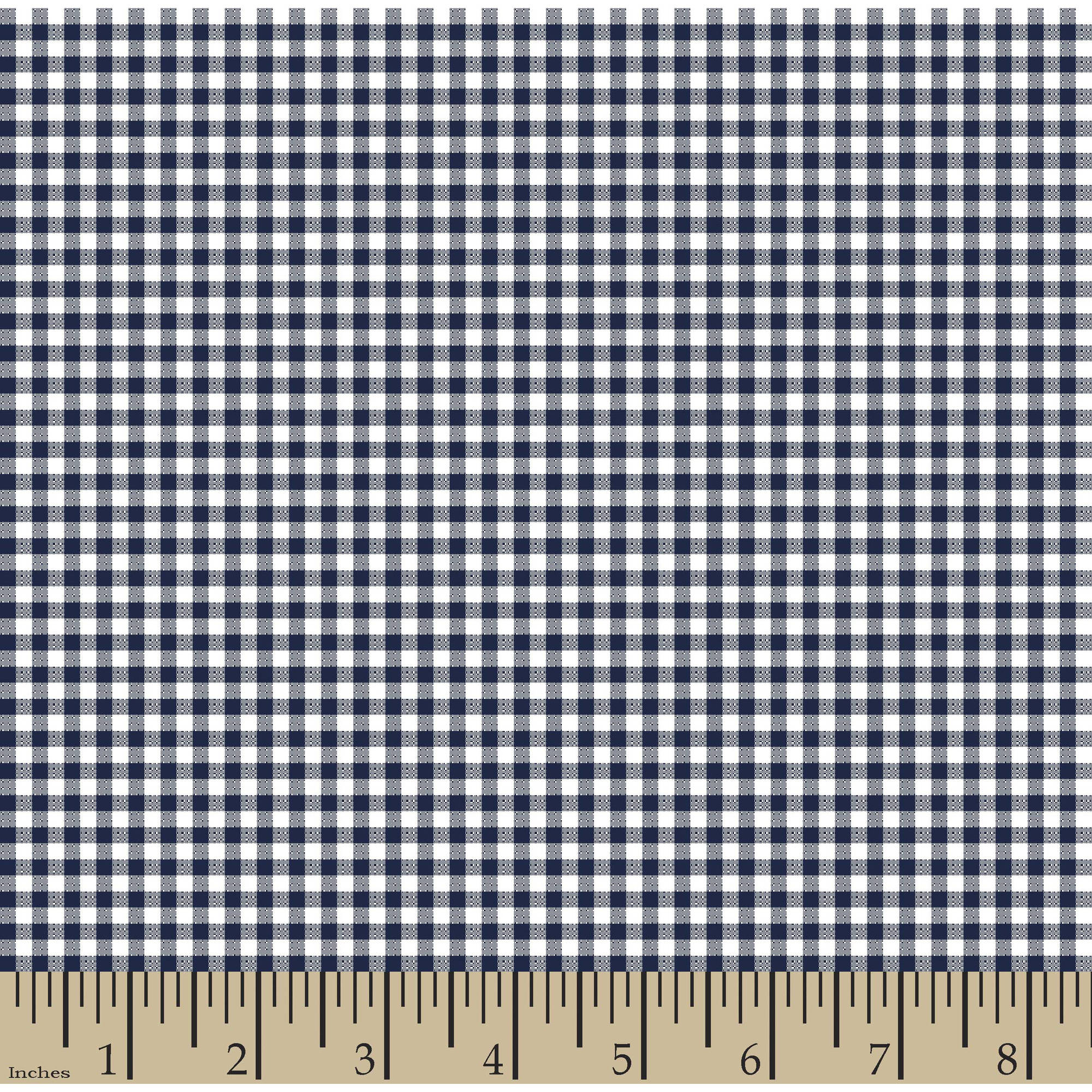 "Woven Gingham Check 1/8"" 65/35 Poly/Cotton Fabric by the Yard, Navy Ink, 44/45"" Width"