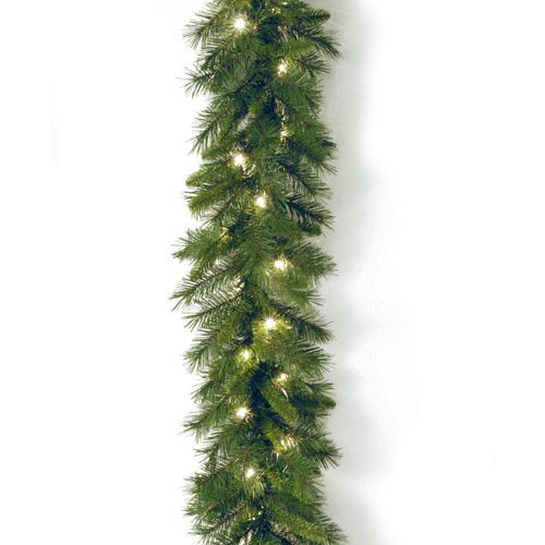 "National Tree 9' x 10"" Winchester Pine Garland with 50 Clear Lights"