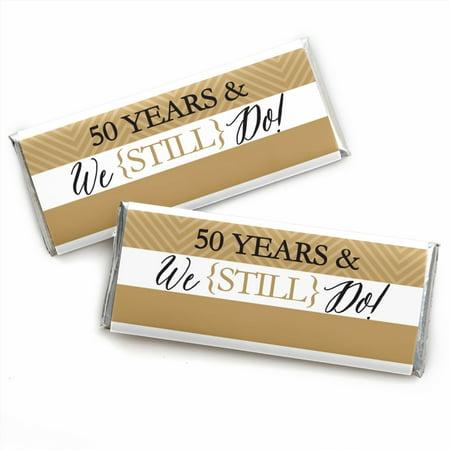 We Still Do - 50th Wedding Anniversary - Candy Bar Wrappers Favors - Set of - 50th Wedding Anniversary Favors
