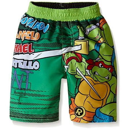1569717f48 Teenage Mutant Ninja Turtles - Teenage Mutant Ninja Turtles Little Boys' Toddler  Swim Trunks - Walmart.com