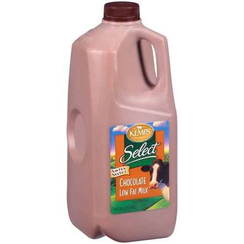 Kemps Select Swiss Style 1% Lowfat Chocolate Milk, .5 gal