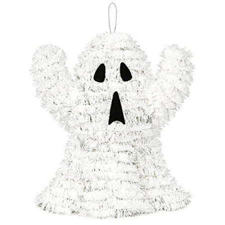 Easy Halloween Treats No Bake (3D Friendly Tinsel Ghost Halloween Trick or Treat Party Hanging Decoration, Plastic, 7