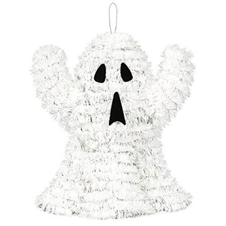 3D Friendly Tinsel Ghost Halloween Trick or Treat Party Hanging Decoration, Plastic, 7