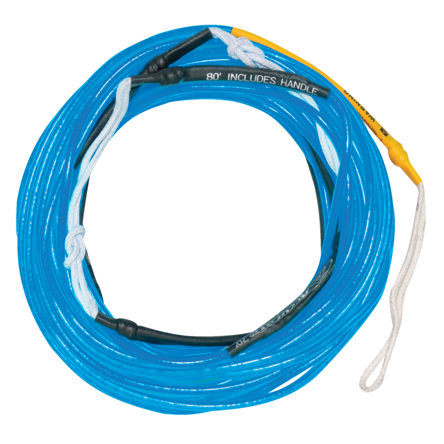 Hyperlite 2018 80 Ft Silicone A-Line (Neon Blue) Wakeboard Rope by