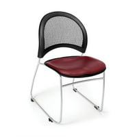 OFM Moon Series Model 335-VAM Anti-Microbial/Anti-Bacterial Vinyl Stack Chair, Wine