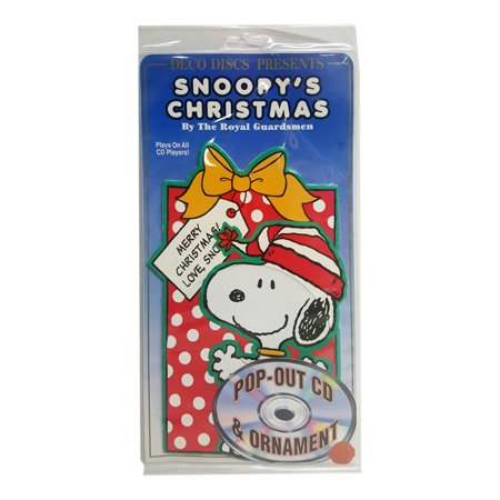 rare deco disc snoopy christmas by the royal guardsman pop out cd ornament